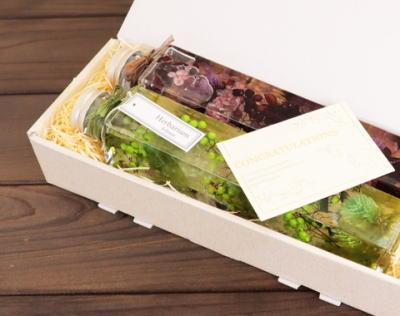 東京世田谷のハーバリウム実店舗フェリナス、角瓶セットをご紹介